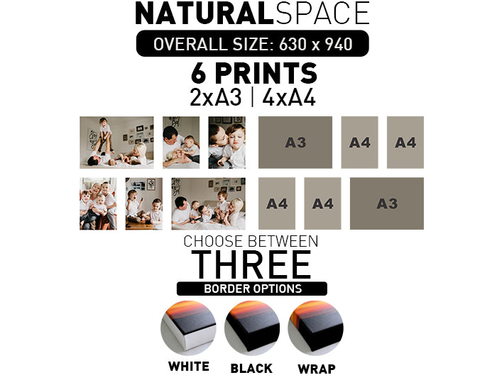 NATURAL SPACE | 6 PRINTS - 2xA3 | 4xA4