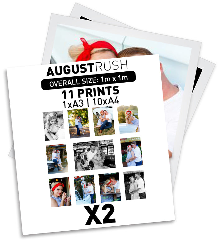2 x AUGUST RUSH - 11 PRINTS | 1xA3 | 10xA4