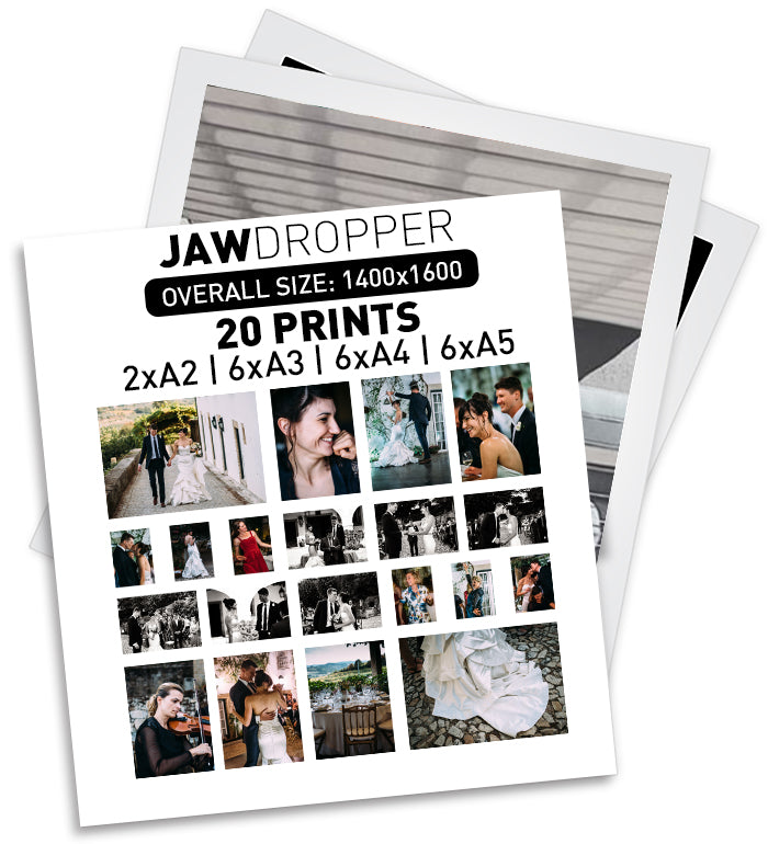 JAW DROPPER - 20 PRINTS | 2xA2 | 6xA3 | 6xA4 | 6xA5