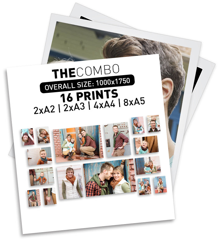 THE COMBO | 16 PRINTS - 2xA2 | 2xA3 | 4xA4 | 8xA5