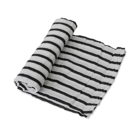 Breton Stripe Muslin Swaddle - Little Unicorn