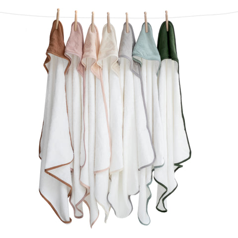 Organic Cotton Hooded Towel- Almond