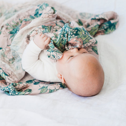 Burrow & Be Bouquet Muslin Wrap - 100% Organic Cotton