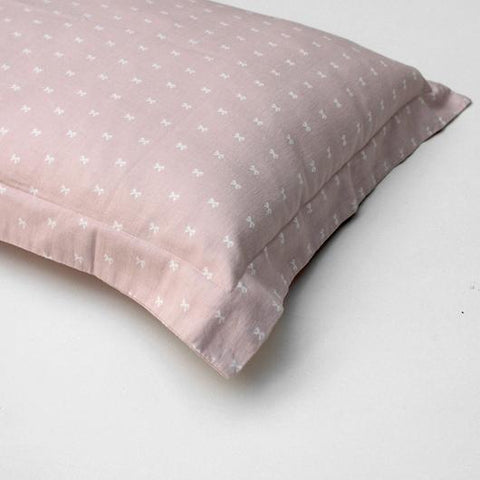 Blush Bow Oxford Pillowcase