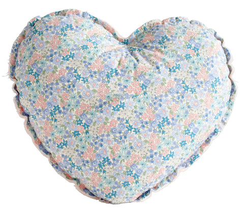 Heart Cushion - Pink and Liberty Blue - Alimrose