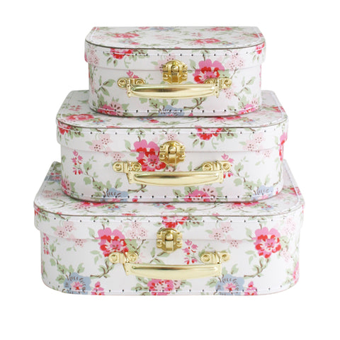 Cottage Rose Suitcase Set - PREORDER