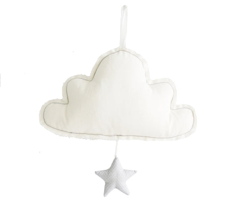 Cloud Musical Mobile - Ivory & Grey - Alimrose