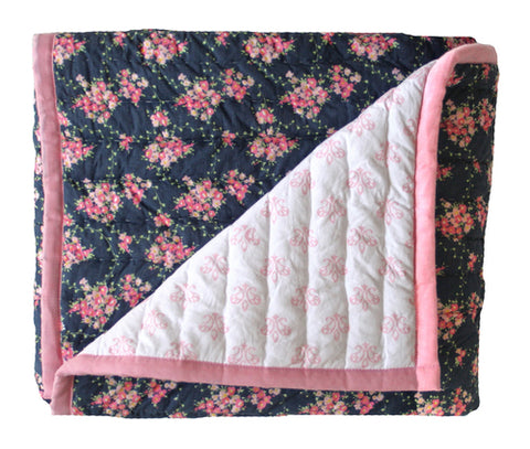 Cot Quilt/Playmat - Wildflower & Blossom