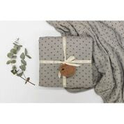 Burrow and Be Cot Blanket - Grey Cross