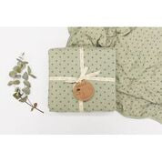 Burrow and Be Cot Blanket - Sage Cross