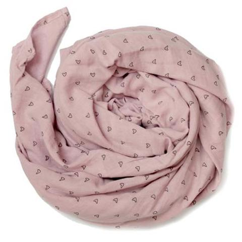 Burrow and Be Muslin Wrap - Pink Heart