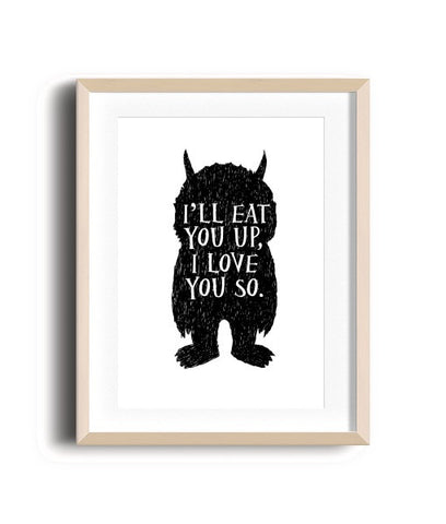 Sleep Prints - I'll eat you up!