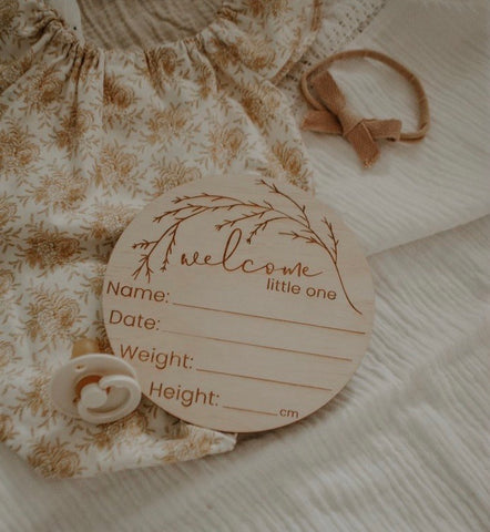 'Welcome Little One' Birth Announcement Disc