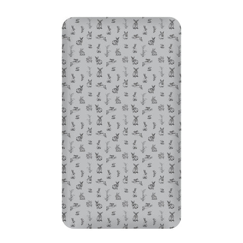 Grey Burrowers Cot Sheet