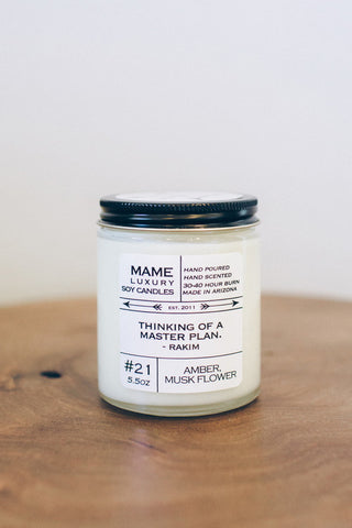Master Plan Candle- 5.5 oz Soy Candle