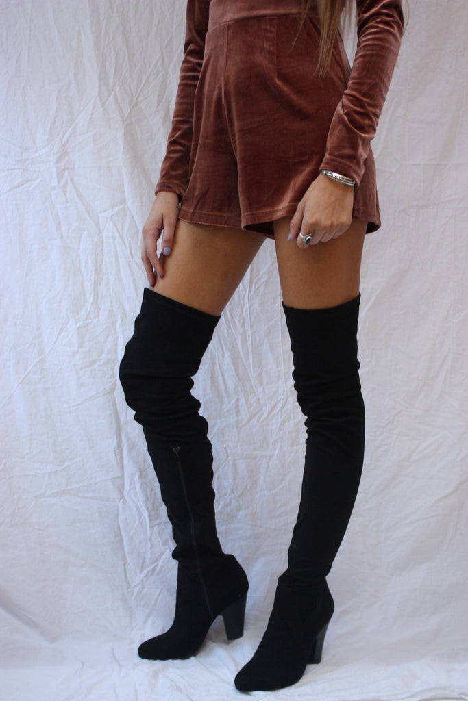 Just A Little Bit Higher- Thigh High Boots