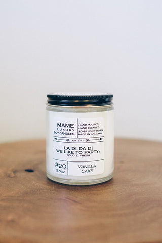 B-Side Candle- 5.5 oz Soy Candle