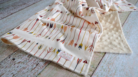 Baby Blanket - Arrow Blanket - Tribal Baby Blanket - Arrow Minky Blanket - Baby Shower Gift