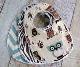 Baby Boy Bib Set - Owl Bib Set - Woodland Bib Set - Owl and Arrows Bib Set