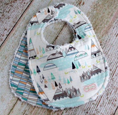 Baby Boy Bib Set - Indian Summer Bib Set - Woodland Bib Set - Tribal Bib Set