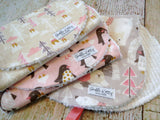 Baby Burp Cloths - Baby Girl Burp Cloths - Arctic Woodland Burp Cloths - Snow Day Burp Cloths