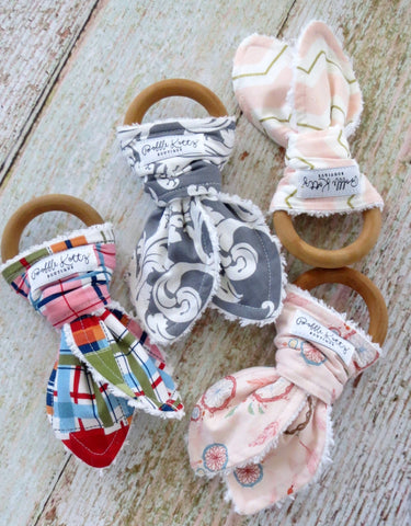 Baby Teethers - Teething Toys - Wooden Teething Toy - Wooden Teething Ring - Baby Teething Ring
