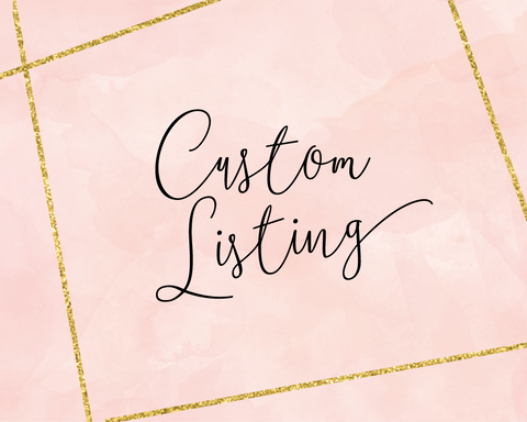 Custom Listing for Laura Sweigard