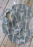 Arrow Bib and Burp Cloth Set - Tribal Bib and Burp Cloth - Native Bib and Burp Cloth Set