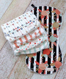 Mix and Match Burp Cloth Set - Baby Girl Burp Cloths - Flower Arrow Stripes Burp Cloth Set