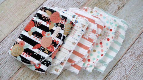 Baby Girl Burp Cloths - Mix and Match Burp Cloths