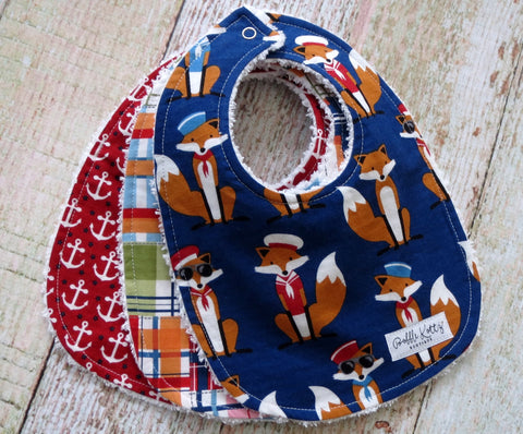 Baby Bibs - Baby Boy Bibs - Nautical Baby Bibs - Sailor Baby Bibs