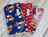 Baby Burp Cloths - Baby Boy Burp Cloths - Nautical Burp Cloths
