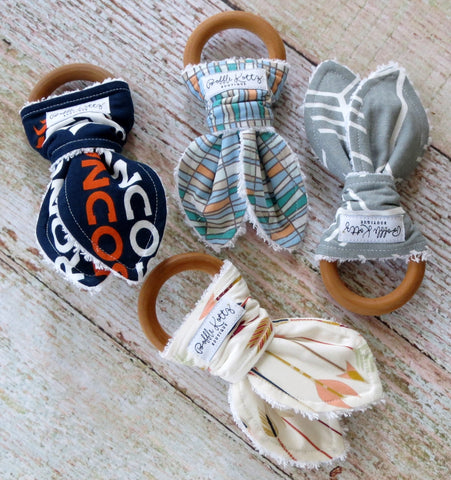 Baby Teethers - Teething Toys - Wooden Teething Ring - Baby Teething Ring