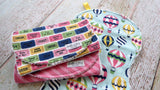 Burp Cloths - Baby Girl Burp Cloths - Hot Air Balloon Burp Cloths - Up Up and Away Burp Cloths