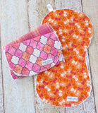 Butterfly Burp Cloth - Pink Plaid Burp Cloth - Pink Quatrefoil Burp Cloth