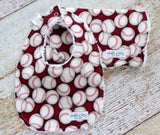 Bib and Burp Cloth Set - Baby Boy Bib and Burp Cloth Set - Baseball Bib and Burp Cloth