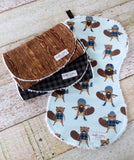 Baby Burp Cloths - Baby Boy Burp Cloths - Burly Beaver Burp Cloths