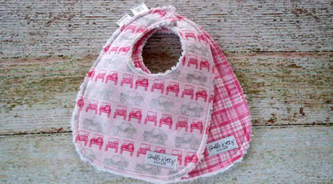 Baby Girl Bibs - Pink Off Roading Bibs - Pink Jeep Bib Set