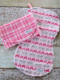 Burp Cloths - Off Roading Burp Cloths - Pink Jeep Burp Cloth Set