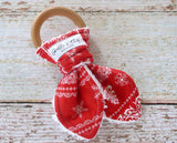 Holiday Teething Ring - Organic Wood Teething Toy