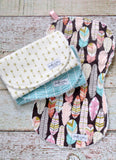 Baby Burp Cloths - Baby Girl Burp Cloths - Tribal Burp Cloths - Bohemian Burp Cloths