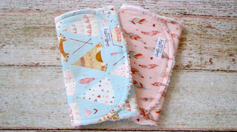 Bohemian Burp Cloths