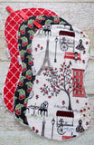 Paris Stroll Burp Cloths