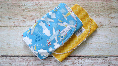 Airplane Burp Cloth Set