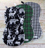 Buffalo Plaid Christmas Burp Cloths