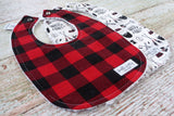 Buffalo Plaid Baby Bibs