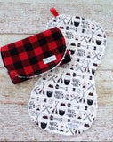 Buffalo Plaid Lumberjack Burp Cloths