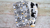 Black and Gold Safari Burp Cloths