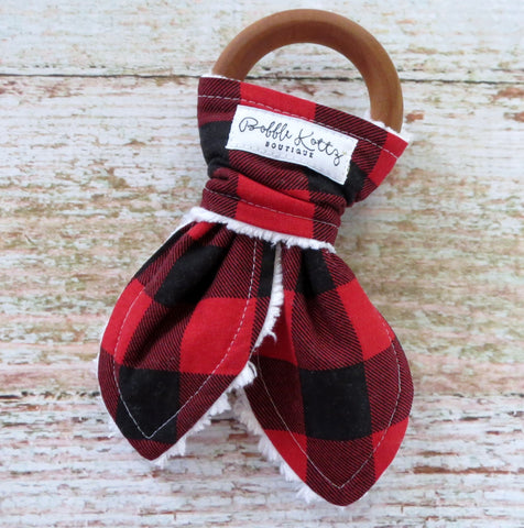 Buffalo Plaid Teether