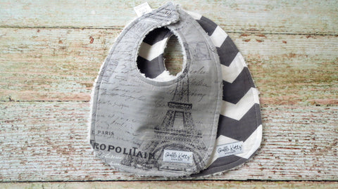 Paris Inspired Baby Girl Bibs